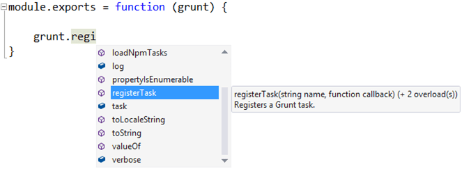 GruntFile.js Intellisense